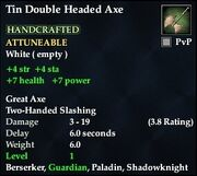 Tin Double Headed Axe