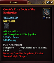 Curate's Plate Boots of the Battlepriest