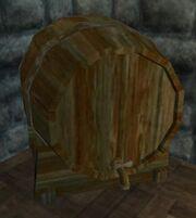 A keg of Halden's Private Reserve (Visible)
