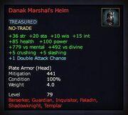 Danak marshal's helm