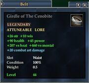 Girdle of the Cenobite