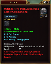 Witchdoctor's Dark Awakening Coif of Commanding