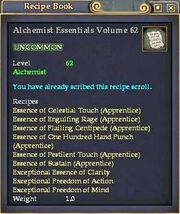 Alchemist Essentials Volume 62