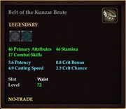 Belt of the Kunzar Brute