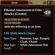 Ethereal Adornment of Extra Attacks (Greater)