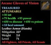 Arcane Gloves of Vision