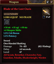 Blade of the Lost Oasis