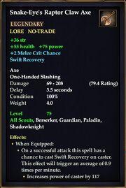 Snake-Eye's Raptor Claw Axe