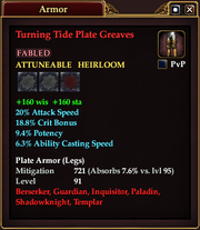 Turning Tide Plate Greaves