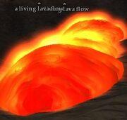 A living lava flow