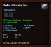 Bauble of Blocking Fists