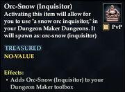 Orc-Snow (Inquisitor)