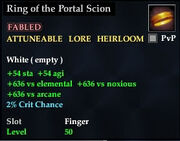 Ring of the Portal Scion