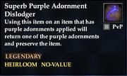 Superb Purple Adornment Dislodger