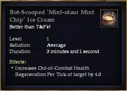 Bot-Scooped Mint-otaur Mint Chip Ice Cream