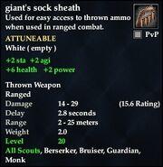 Giant's sock sheath