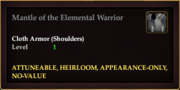 Mantle of the Elemental Warrior
