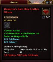 Wanderer's Rare Hide Leather Gloves