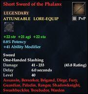 Short Sword of the Phalanx