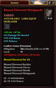 Blessed Direwood Wristguards