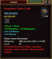 Primalist's Chain Cuffs