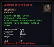 Leggings of Harla's Word