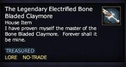 The Legendary Electrified Bone Bladed Claymore