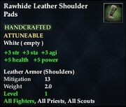 Rawhide Leather Shoulder Pads