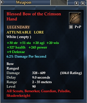 Blessed Bow of the Crimson Hand