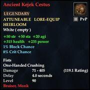 Ancient Kejek Cestus