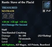 Rustic Stave of the Placid