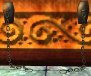 Wall shackles (Visible)