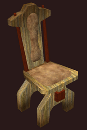 A pristine alder dining chair (Visible)