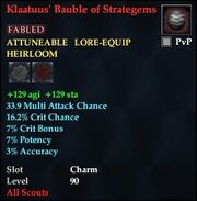 Klaatuus' Bauble of Strategems