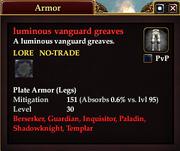 Luminous vanguard greaves