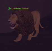 A shadowed servitor (lion)