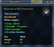 Bracelet of the Preserver