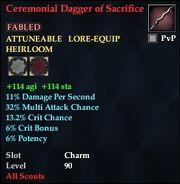 Ceremonial Dagger of Sacrifice