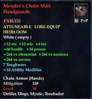 Mender's Chain Mail Handguards