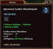 Qeynosian Leather Shoulderpads