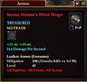 Serene Mentor's Wrist Wraps