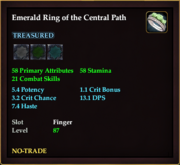 Emerald Ring of the Central Path