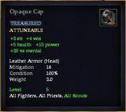 Opaque Cap