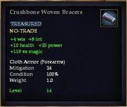 Crushbone Woven Bracers