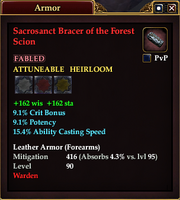 Sacrosanct Bracer of the Forest Scion
