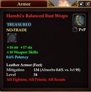 Hanshi's Balanced Foot Wraps