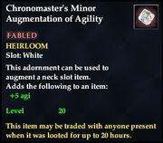Chronomaster's Minor Augmentation of Agility