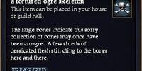 A tortured ogre skeleton