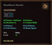 Bloodthorn Shackle