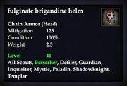 Fulginate brigandine helm
